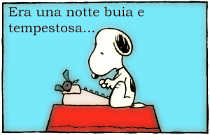 snoopy scrive