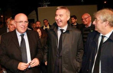 da sinistra Mario Oliverio, Lorenzo Guerini, Ernesto Magorno