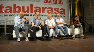 da SX Raffaele Mortelliti, Pino Maniaci, Michele Albanese, Alessandro Russo, Giusva Branca (2)