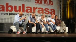 da sin: Raffaele Mortelliti, Pino Maniaci, Michele Albanese, Alessandro Russo, Giusva Branca
