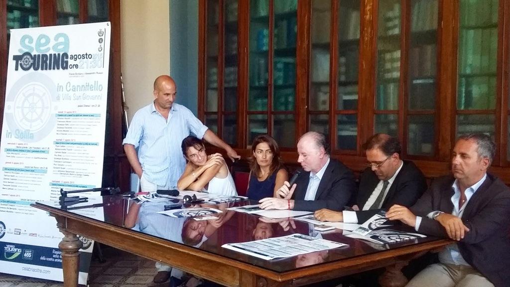 da sinistra Russo, Bottero, Gattuso, Raffa, Messina e Siclari