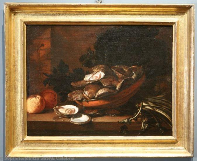 Giuseppe Recco - Natura morta con ostriche e sedano