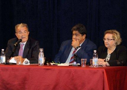 da sinistra Prodi, Pollichieni e Laganà