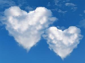 cuore cielo nuvole