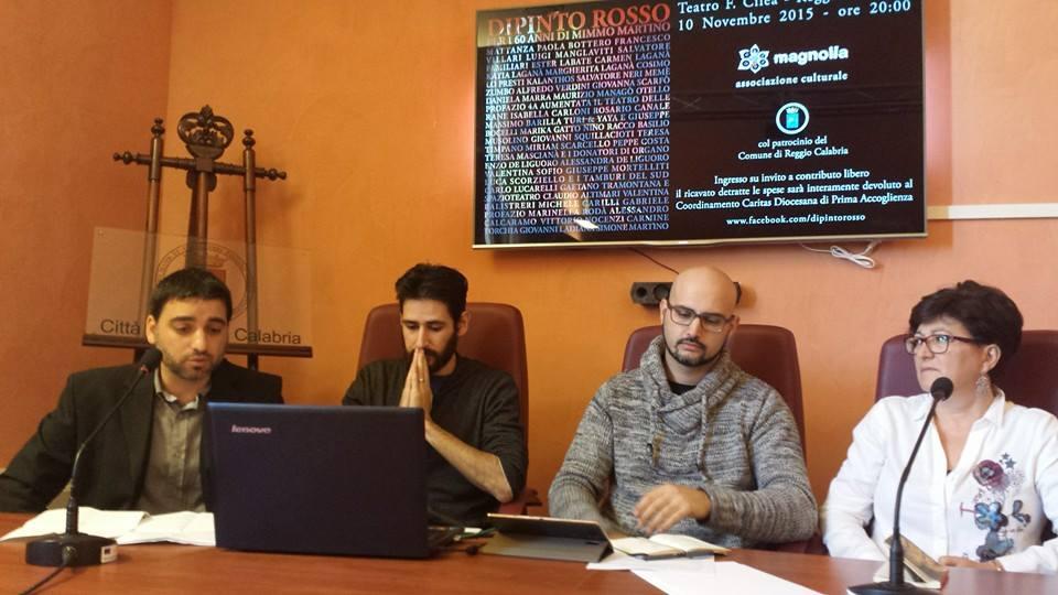 da sinistra Ezio Marrari, Claudio Martino, Simone Martino e Caterita Lo Presti