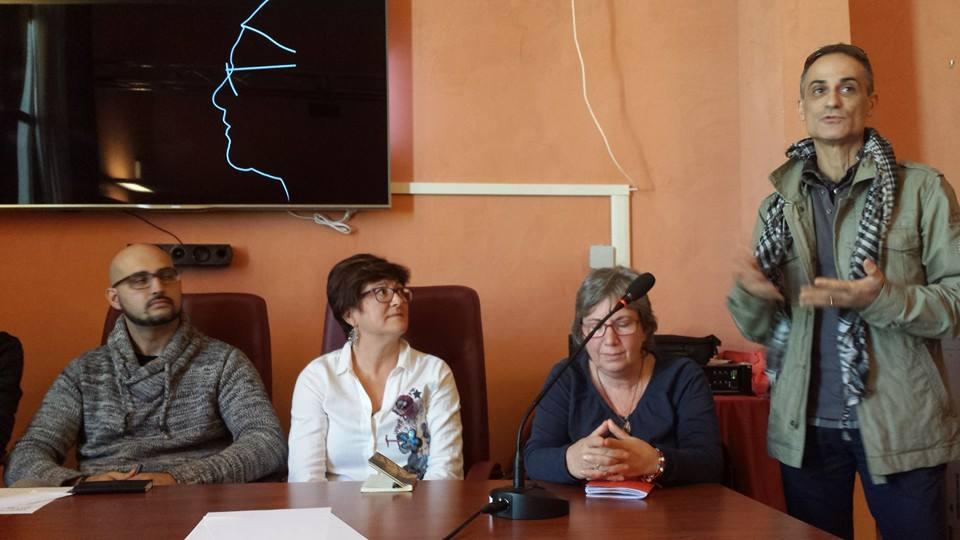 da sinistra Simone Martino, Caterita Lo Presti, Bruna Mangiola e Mario Lo Cascio