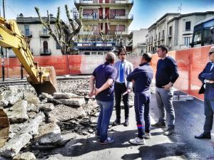 Falco cantiere parcheggi interrati piazza Garibaldi