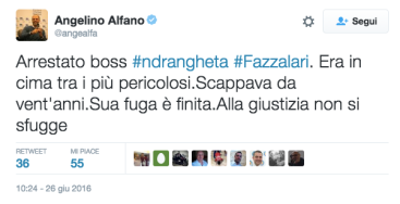 Alfano Fazzolari twitter ndr