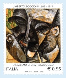 francobollo Umberto Boccioni