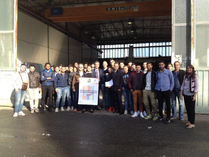 Buonafede con gli studenti del Panella-Vallauri di Reggio
