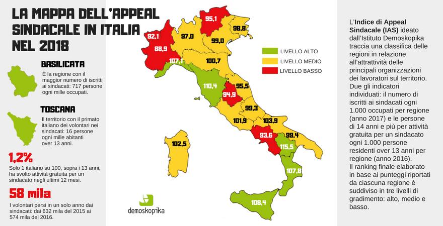 infografica 2. APPEAL SINDACATO IN ITALIA