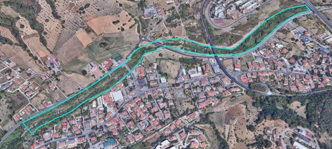 foto aerea fiume surdo sequestro
